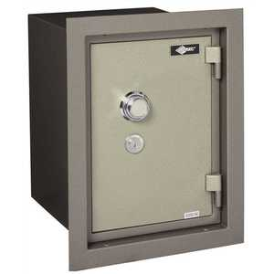 AMSEC WFS149 WALL SAFE U.L. LIST 1HR FIRE RATING WITH COMBINATION LOCK two tone grey