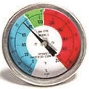 POWERS PROCESS CONTROLS 894-3709 COLOR DIAL THERMOMETER