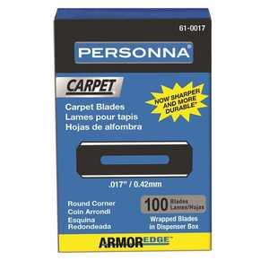 Personna 61-0017-0000 ARMOREDGE ROUND CORNER CARPET BLADE, .017, CARBON - pack of 100