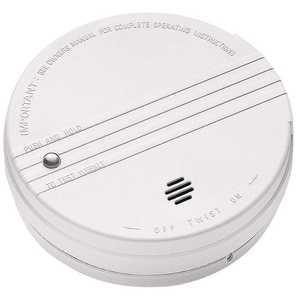 Kidde 0915E Battery Operated Smoke Detector with LED Power Indicator and Ionization Sensor