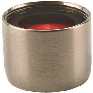 NEOPERL 5403605 Perlator 2.2 GPM 55/64 in. - 27 Regular Female Faucet Aerator, Brushed Nickel Red/brushed nickel
