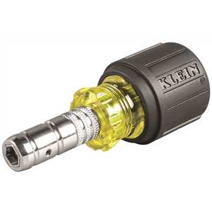 Klein Tools 65131 2-in-1 1.5 in. Hex Head Slide Driver Nut Driver Multi-Colored