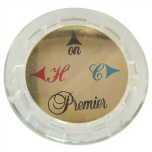 Premier 114091 Hot and Cold Index Buttons Clear