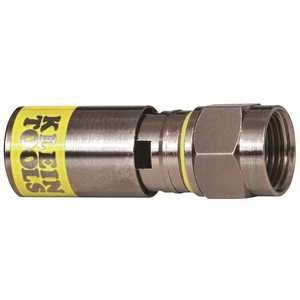 Klein Tools VDV812-612 Universal F Compression Connector for RG6/6Q