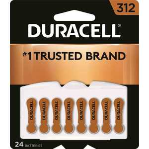DURACELL DA312B24 Size 312 Zinc Air Hearing Aid Battery - pack of 24
