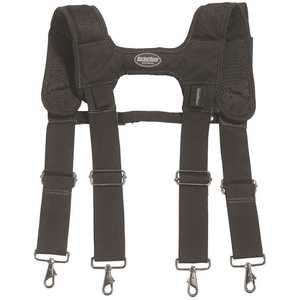 Bucket Boss 57400 Universal Adjustable Black LoadBear Suspenders