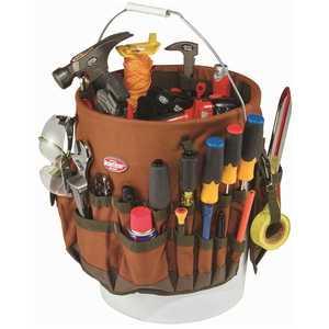Bucket Boss 10030 11 in. Tool Bucket BTO in Brown