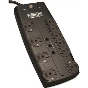 Tripp Lite TRPTLP1008TEL 10-Outlet Surge Protector Black
