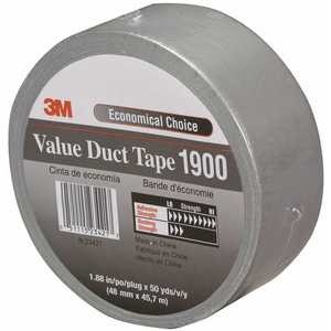 3M 1900 1.88 in. x 50 yds. Value Duct Tape Silver