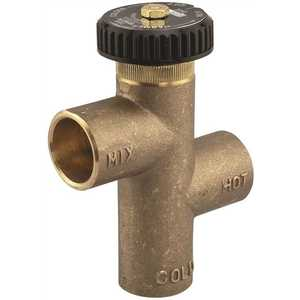 Tempering Valve, Hot Water Extender 3/4 in., Lead Free Brass, Solder End Connections