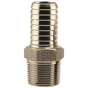 Boshart Industries SSMA-100 #304 STAINLESS STEEL MALE ADAPTER, 1 IN. X 1 IN. INS