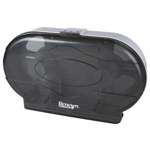 Jr Jumbo Black Twin Toilet Paper Dispenser