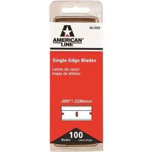 Workforce 66-0089-Disp 1-1/4 in. x 4-7/8 in. Single Edge Razor Blades - pack of 100