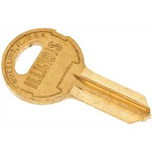 CCL Security Products 220 (3031-1) CCL ORIGINAL ILLINOIS KEY BLANKS BRASS