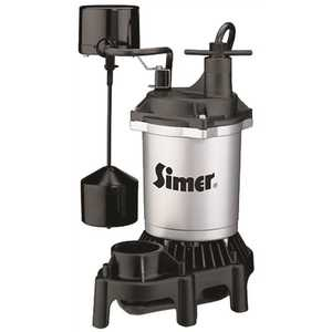 STA-RITE 2166 PENTAIR WATER PUMPS ZINC SUMP PUMP WITH PLASTIC BASE, VERTICAL SWITCH, 1/2 HP