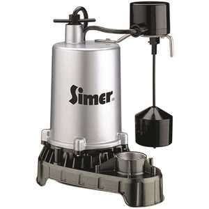 STA-RITE 4188 PENTAIR WATER PUMPS SUBMERSIBLE HIGH OUTPUT ZINC SUMP PUMP, VERTICAL SWITCH, 3/4 HP