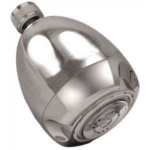 Earth Massage 3-Spray 2.6875 in. 1.75 GPM Fixed Showerhead in Chrome