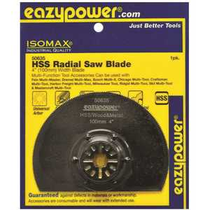 EAZYPOWER 50635 OSCILLATING HSS RADIAL SAW BLADE, 4 IN