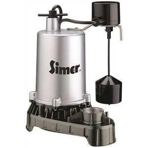 STA-RITE 4186 PENTAIR WATER PUMPS SUBMERSIBLE HIGH OUTPUT ZINC SUMP PUMP, VERTICAL SWITCH, 1/2 HP