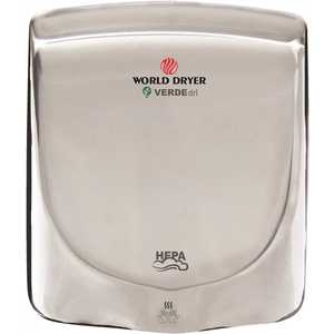WORLD DRYER Q972-A Polished Stainless Steel Electric Hand Dryer