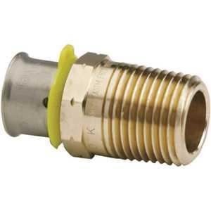 Viega 90521 PureFlow 1/2 in. x 1/2 in. Zero Lead Bronze Press Adapter Pack of 10