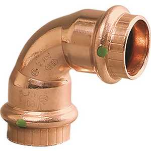Viega 77022 3/4 in. x 3/4 in. Copper 90-Degree Elbow Pack of 10