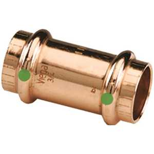 1/2 in. x 1/2 in. Copper Coupling with Stop Pack of 10