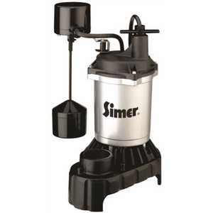 STA-RITE 2883 PENTAIR WATER PUMPS ZINC SUMP PUMP WITH CAST IRON BASE, VERTICAL SWITCH, 1/3 HP