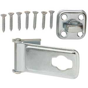 Everbilt 15125 3-1/2 in. Zinc-Plated Latch Post Safety Hasp Zinc Plated Pack of 10