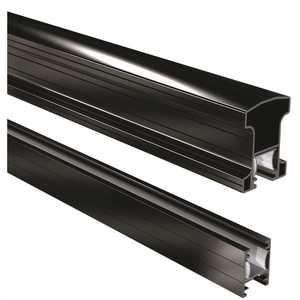 Peak Aluminum Railing 50113 6 ft. Black Aluminum Stair Hand and Base Rail