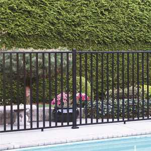 PEAK 57113 AquatinePLUS 5/8 in. x 72 in. x 4 ft. Black Aluminum Pool Fence Rail and Picket Kit