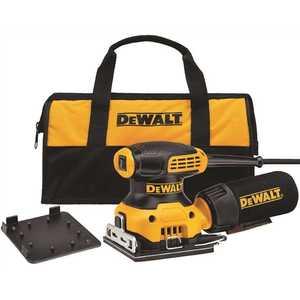 DEWALT DWE6411K 2.3 Amp 1/4 Sheet Palm Grip Sander Kit with Contractor Bag Yellow
