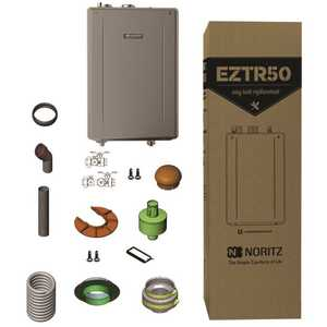 Noritz EGQ-C2859WX-FF US LP 50 Gal. Residential Tank Replacement-Liquid Propane Gas Hi-Efficiency Indoor Tankless Water Heater