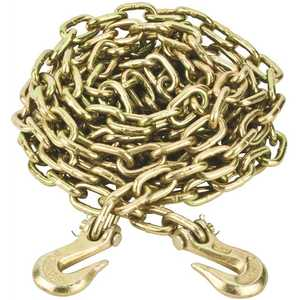 Crown Bolt 803082 5/16 in. x 20 ft. Grade 70 Yellow Zinc Plated Steel Tow Chain with Grab Hooks