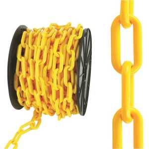 Everbilt 810040 #8 x 50 ft. Plastic Chain, Yellow