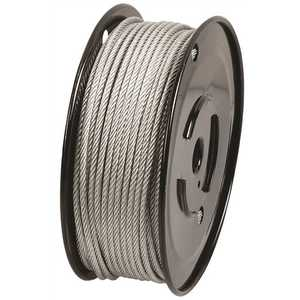 Everbilt 806320 1/16 in. x 500 ft. Galvanized Steel Uncoated Wire Rope