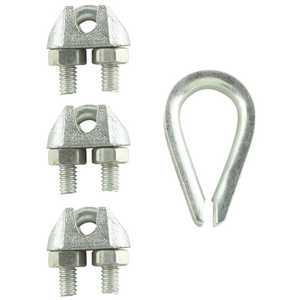 Everbilt 43064 3/32 in. x 1/8 in. Zinc-Plated Clamp Set - pack of 4