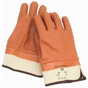 Ansell Protective Products 204881 WINTER MONKEY GRIP TEX INSULATED GLOVES WITH SAFETY CUFFS, ORANGE Pair