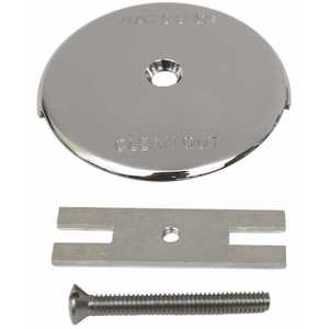 Watco 18003-CP 1-Hole Bathtub Overflow Plate Kit in Chrome Plated
