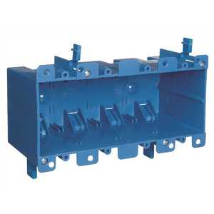 Carlon B468R 4-Gang 71 cu. in. Old Work PVC Electrical Box