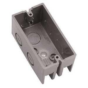 Carlon B112HBR 1-Gang 12 cu. in. New Work Gray Non-Metallic Handy Box