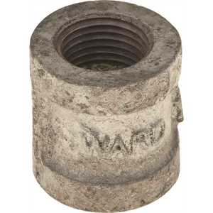 WARD MFG. 360106.EXD.NMC GALVANIZED MALLEABLE COUPLING 3/4 IN. X 1/2 IN