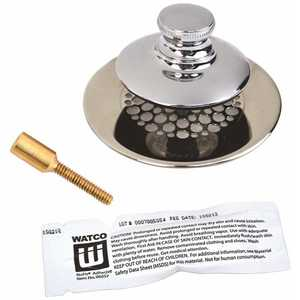 Watco 48750-PP-CP-G-51 UNIVERSAL NUFIT TUB CLOSURE PUSH/PULL WITH GRID STRAINER WITH BRASS PIN, SILICONE