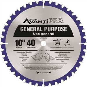 Avanti Pro P1040X Avanti Pro 10 in. x 40-Tooth General Purpose Saw Blade