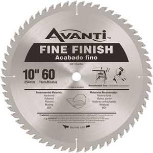 Avanti A1060X 10 in. x 60-Teeth Fine Finish Saw Blade