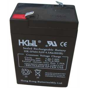 National Brand Alternative 6V 4.5A Lead-acid Battery RECHARGEABLE REPLACEMENT BATTERY FOR EMERGENCY EXIT LIGHT, 6 VOLTS, 4.5 AMPS