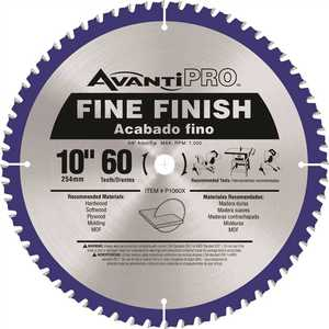 Avanti Pro P1060X Avanti Pro 10 in. x 60-Tooth Fine Finish Saw Blade