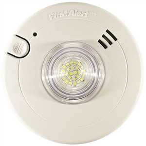 BRK Brands/First Alert 7020BSL 120-Volt AC Smoke and LED Strobe Alarm with 10-Year Sealed Lithium Battery Backup