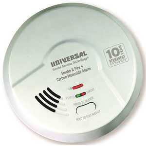 3-IN-1 TAMPER PROOF SMOKE, FIRE, AND CARBON MONOXIDE SMART ALARM WITH 10 YEAR SEALED BATTERY, BATTERY OPERATED