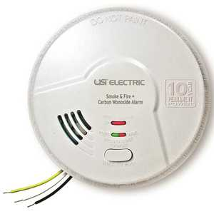 3-IN-1 TAMPER PROOF SMOKE, FIRE, AND CARBON MONOXIDE SMART ALARM WITH 10 YEAR SEALED BATTERY BACK-UP, HARDWIRED